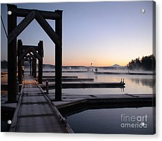 Acrylic Print featuring the photograph Frosty Morning by Laura  Wong-Rose