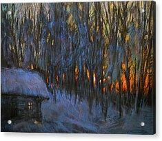 Frosty Morning Acrylic Print by Valery Kosorukov