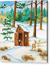 Frosty Morning Walk Acrylic Print by Cynthia Stewart