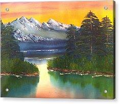 Frosty Peaks Acrylic Print by Bill Murray
