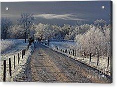 Frosty Sparks Lane Acrylic Print