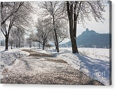 Frosty Stroll With Sugarloaf Acrylic Print