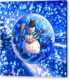 Frosty The Snowglobe Acrylic Print by Robin Moline