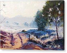 Frosty Winter Light Acrylic Print by Graham Gercken