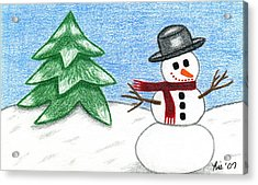 Frostyland Acrylic Print by Lisa Ullrich