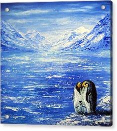 Frozen Acrylic Print by Ann Marie Bone