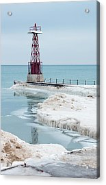 Frozen Beach Acrylic Print by Kathleen Scanlan