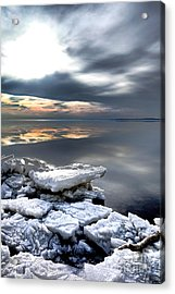 Frozen Chesapeake Acrylic Print by Olivier Le Queinec
