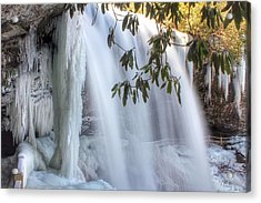 Frozen Dry Falls Acrylic Print