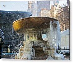 Frozen Fountain Acrylic Print by Maritza Melendez