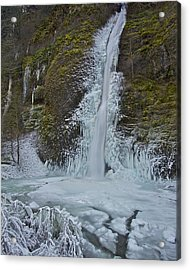 Acrylic Print featuring the photograph Frozen Horsetail Falls 120813a by Todd Kreuter