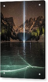Frozen Illumination At Dream Lake Rmnp Acrylic Print by Mike Berenson