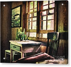 Frozen In Time - Oil Texture Acrylic Print by Cris Hayes