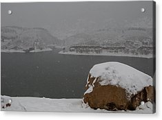 Frozen Inlet Acrylic Print by Harry Strharsky