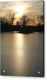 Frozen Lake Acrylic Print by Alicia Knust