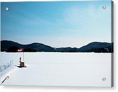 Frozen Lake In Canada Acrylic Print