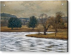 Frozen Lake Acrylic Print by Kathy Jennings