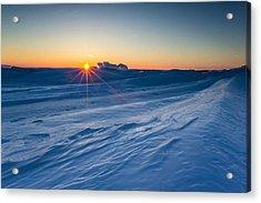 Frozen Lake Minnewaska Acrylic Print by Aaron J Groen