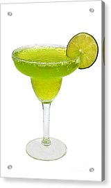 Frozen Margarita With Lime Isolated Acrylic Print