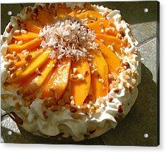 Frozen Molokai Mango Mele Pie Acrylic Print by James Temple