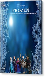 Frozen Movie Poster Acrylic Print by Marvin Blaine