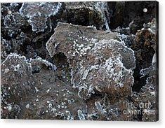 Frozen Mud Acrylic Print