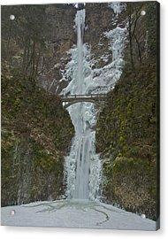 Acrylic Print featuring the photograph Frozen Multnomah Falls Ffa by Todd Kreuter