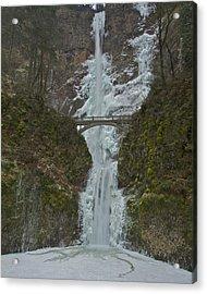 Acrylic Print featuring the photograph Frozen Multnomah Falls Ssa by Todd Kreuter