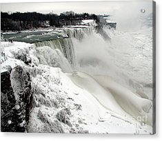 Acrylic Print featuring the photograph Frozen Niagara And Bridal Veil Falls by Rose Santuci-Sofranko