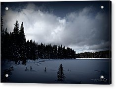 Acrylic Print featuring the photograph Frozen Nickel Plate Lake by Guy Hoffman