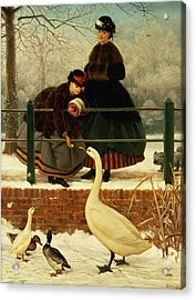 Frozen Out Acrylic Print by George Dunlop Leslie