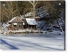 Frozen Pond  Acrylic Print by Paul Ward