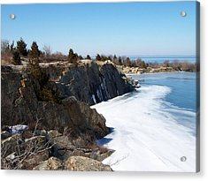 Frozen Quarry Acrylic Print by Catherine Gagne