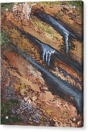 Frozen Seep Acrylic Print by William Killen