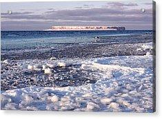 Frozen Shore Acrylic Print