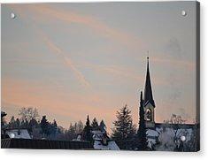 Acrylic Print featuring the photograph Frozen Sky 2 by Felicia Tica