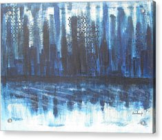 Acrylic Print featuring the painting Frozen Skyline by Diane Pape