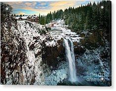 Frozen Snoqualmie Falls Acrylic Print