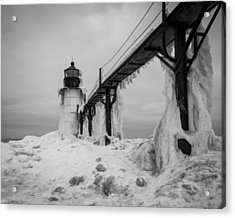 Frozen St. Joseph Lighthouse Acrylic Print