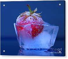Frozen Strawberry Ice Acrylic Print