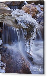Frozen Stream Acrylic Print