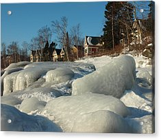 Acrylic Print featuring the photograph Frozen Surf by James Peterson