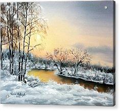 Frozen Acrylic Print by Vesna Martinjak