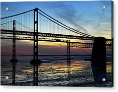 Acrylic Print featuring the photograph Frozen Waters Under The Bay Bridge by Bill Swartwout