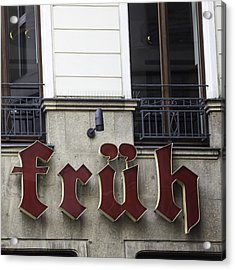 Fruh Am Dom Brauhaus Cologne Germany Acrylic Print by Teresa Mucha