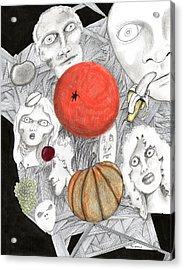 Fruit Afloat Acrylic Print by Dan Twyman