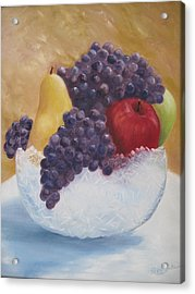 Fruit And Crystal Acrylic Print