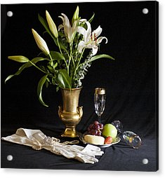 Acrylic Print featuring the photograph Fruit And Flowers by Rick Hartigan
