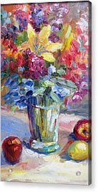 Fruit And Flowers Still Life Acrylic Print