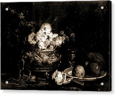 Fruit And Flowers, Vollon, Antoine, 1833-1900 Acrylic Print by Litz Collection